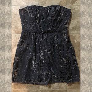 BCBG Smokey Gray & Velvet Starburst Mini Dress